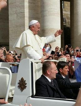 Pic from Papal Audience attendance. , Michael M - May 2015