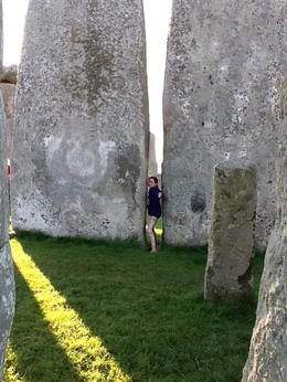 My 10-year-old granddaughter--not touching the stones! , Nonnie - July 2012