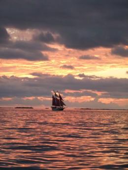 PIRATE SHIP, SEA AND SKY , Richard S - October 2013
