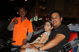 Trishaw and Driver Ready - Chinatown Singapore - May 2010