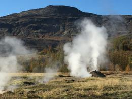 small steaming vent near the Geyser , Laura W - October 2016