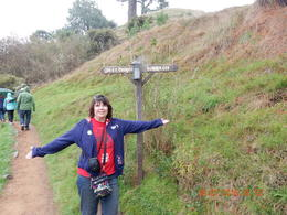I am in Hobbiton deciding which road to take. , Monica N - July 2017