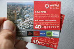 Tickets including 4D experience , Donald D - August 2017