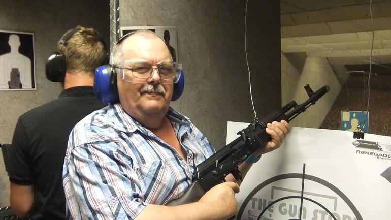 10 Schuss mit der AK 47 - Las Vegas