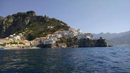 A photo of Amalfi from our impromptu boat ride. , gaylem - August 2016