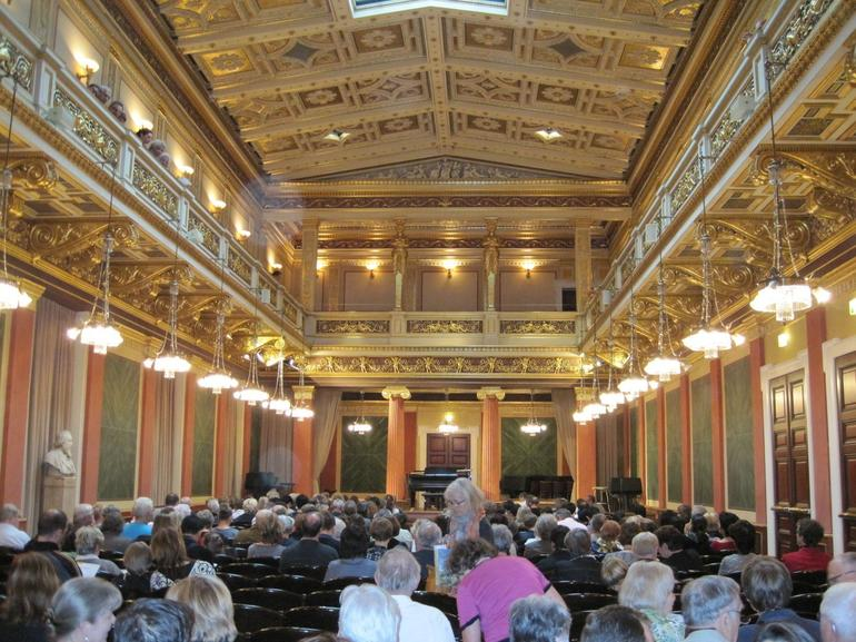 At Musikverein for Vienna Boys Choir concert - Vienna