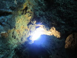 Deep in the heart of one of the caves! , Saundra B - July 2011