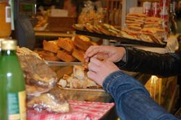 Tasting bread., Frances - June 2010