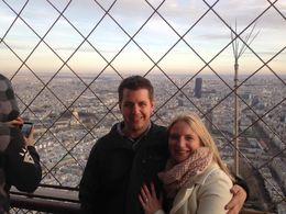 Myself and my fiance moments after getting engaged looking over the Parc du Champ de Mars on December 30th, 2015. , Lauren S - January 2016