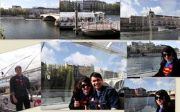 On a boat cruise to Eiffel Tower , Alexander Y - November 2011