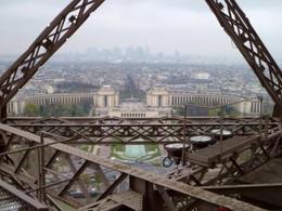 View from atop Jules Verne Restaurant toward Trocadero , Paris4me - December 2013