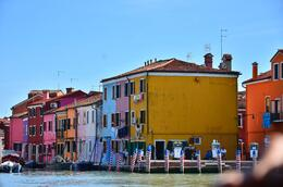 lined along the waters are the pastel houses of Burano. , donghenz - June 2012