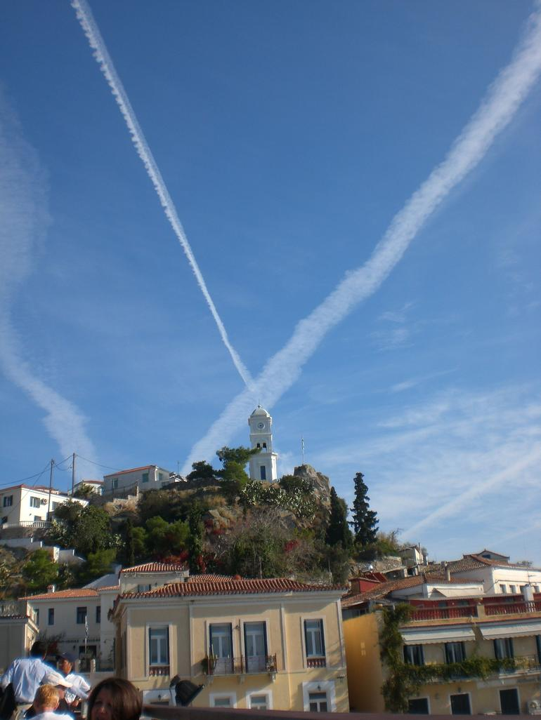 St Andrews cross in sky - Athens