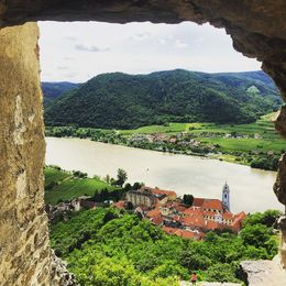 Taking in the beautiful hills of Austria and the Danube River , Jami B - June 2016