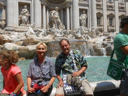Relaxing at the Trevi Fountain , Monika H - July 2013