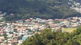 View of Soufriere from the lookout. , Sharon G - January 2017