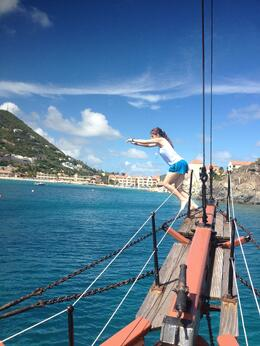 While anchored we were able to jump, dive, or even flip off the plank. Great fun! , Brian M - October 2013
