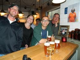 Josh, Lisa, our new friend, Will and John enjoying some great beer and fun together in Amsterdam. , Jean C - July 2014