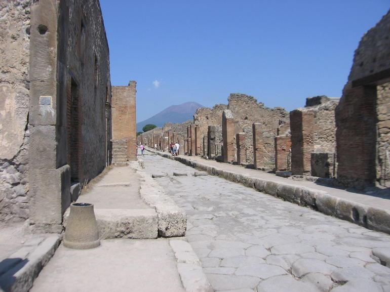 Cobbled street in Pompeii -