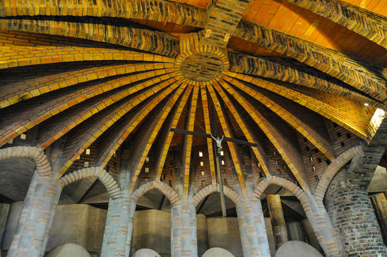 Inside the church at Colonial Guell - Barcelona