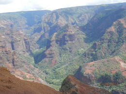 Scenic view of the Waimea Canyon. , Geraldine L - November 2013