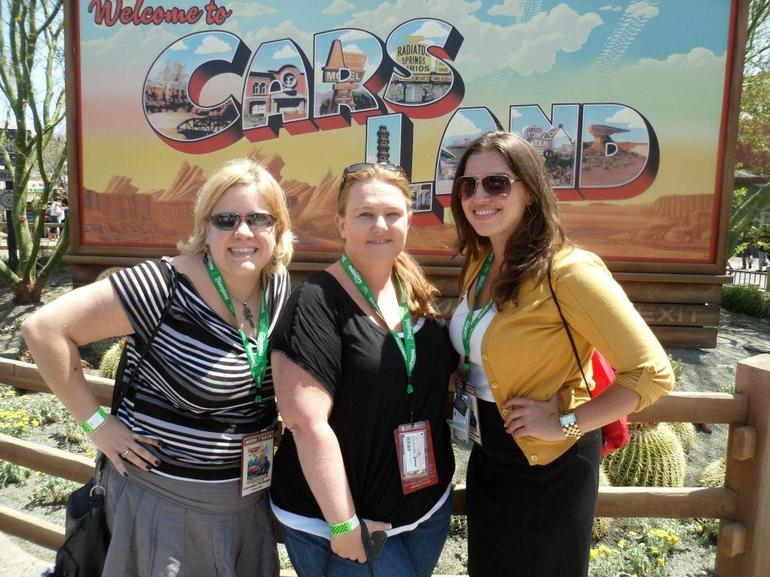 At the opening of Cars Land! - Anaheim & Buena Park