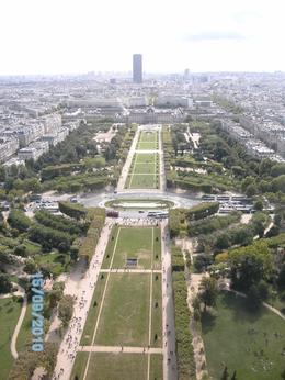 Fantastic views of Paris from top of Eiffel Tower, A W - September 2010