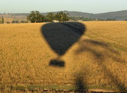 A very clear shadow of our balloon as we descend. - March 2010