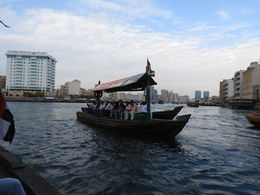 A dhow boat crossing the creek to Deira. , Nana - July 2016