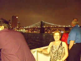 Photo by Annie P, Australia September 2011 - in view of the Brooklyn Bridge from the deck of the vessel while enjoying the dinner cruise. , earthling25 - September 2011