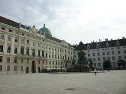 After you go inside Hofburg Palace, Irene - October 2013