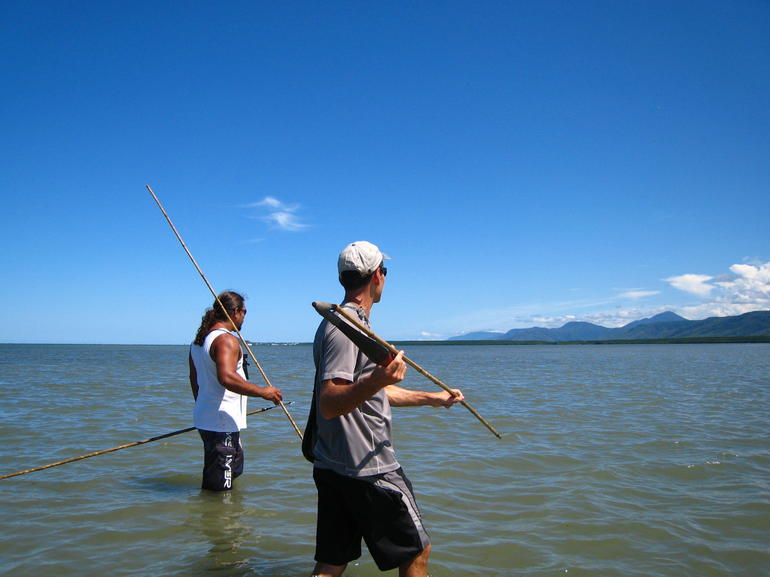 Hubby Spear-fishing - Cairns & the Tropical North