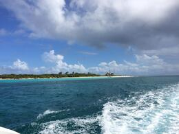 View of Icacos as we head to our second snorkeling location , SaraG - November 2014