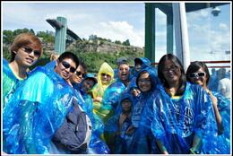 Lots of fun during Maid of the Mist Boat Ride , LUDWIG G - August 2012