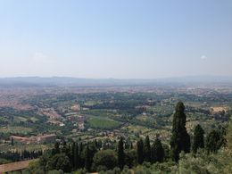 Lovely view of Florence on a warm summer day. , italy - August 2015