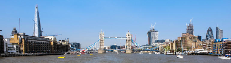 Tower Bridge, City and the Shard - London