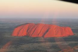 Sunset beams on Uluru , Mike F64 - June 2017