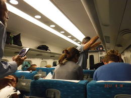 Inside the Bullet Train. Very roomy, fast ans smooth. , Debbie T - September 2017
