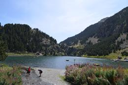 The beautiful lake at Nuria Valley , Tejaswini - September 2017