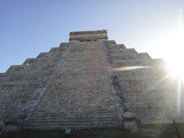 the side with serpent head and tail is the front side, 91 steps per side plus the top makes 365 days a year , Ju-te W - December 2012