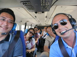 Group picture with our wonderful pilot , Dolphin - June 2012