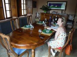 Dawn enjoying wine lunch at winery. , Shawn S - July 2014