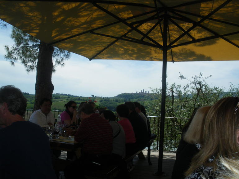 Lunch on a hilltop - Florence