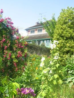 Great view of Monet's house from the garden. , Jasmine C - August 2016