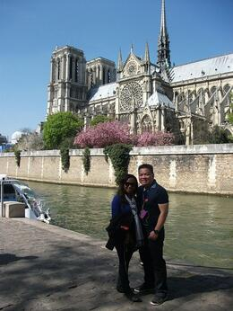 My husband and I in front the beautiful Notre Dame Cathedral. , Courtney J - May 2013