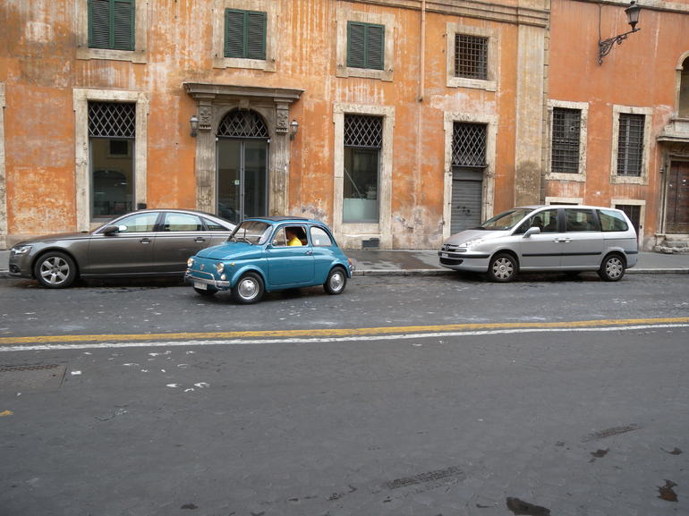 Parking up in style near Piazza Navona... - Rome
