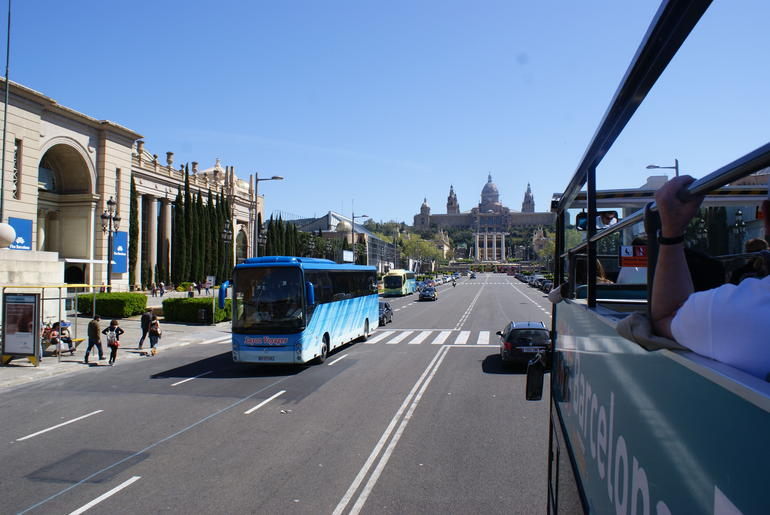 Photo from the top of the bus - Barcelona