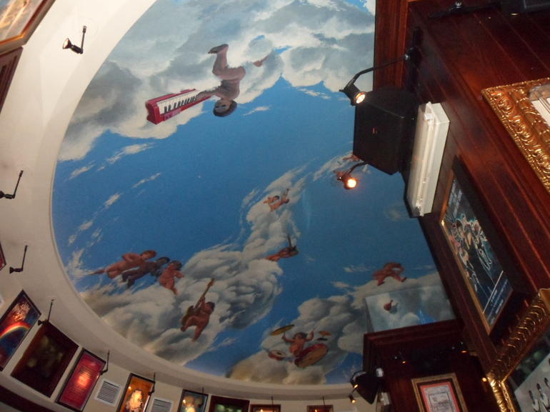 The ceiling of the cafe. - Rome