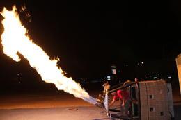 The crew lighting up the propane before sunrise. , Robert M - November 2014