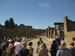 Elisa is leading our group through the streets of Pompei. , Thom L - September 2016